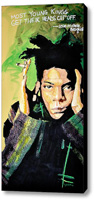 Basquiat Stretched Canvas Print   Canvas Art By Drexel