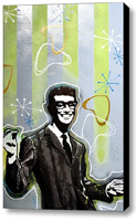 Buddy Holly Stretched Canvas Print   Canvas Art By Drexel