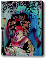 Fumiko Stretched Canvas Print   Canvas Art By Drexel
