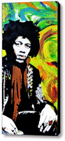 Jimi Stretched Canvas Print   Canvas Art By Drexel