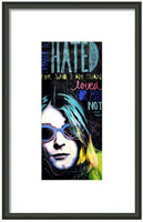 Kurt Cobain Framed Print By Drexel