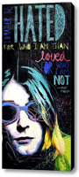 Kurt Cobain Stretched Canvas Print Canvas Art By Drexel