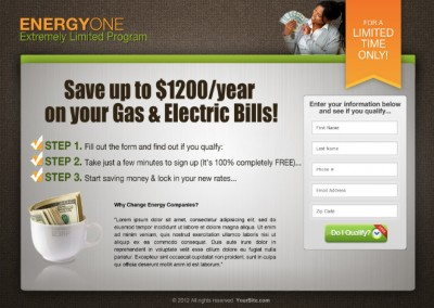 Energy One Landing Page