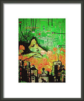 Hive Mind Framed Print By Drexel